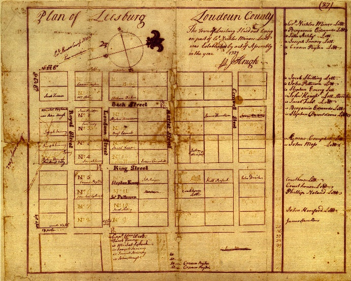 Hough map of Leesburg, 1757