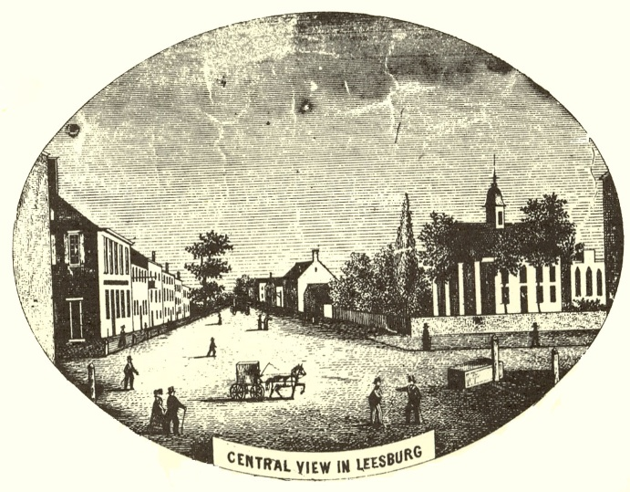 Central View of Leesburg from Yardley Taylor map