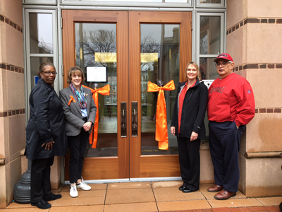 Orange Ribbon placement ceremony