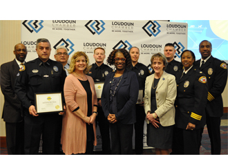 Leesburg Police Officers Honored for Lifesaving Efforts at 2018 Loudoun Chamber Valor Awards