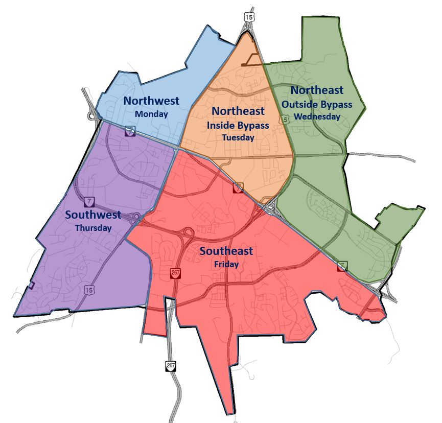 Trash Collection Area Map
