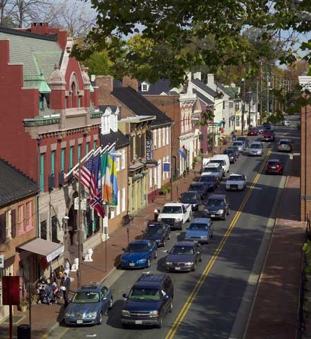 North King Street in Historic Downtown Leesburg