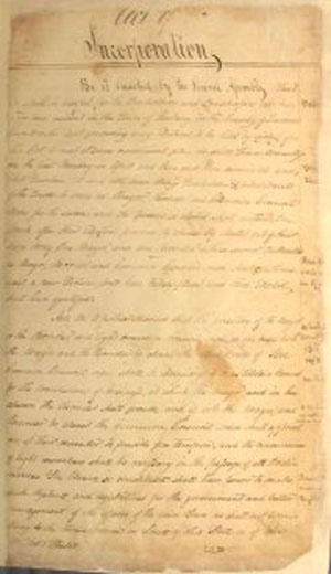 Act of Incorporation, 1813