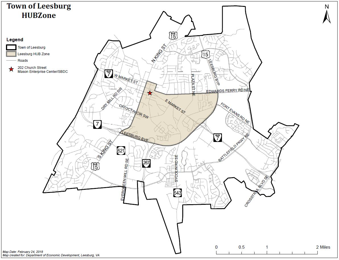 Map of Leesburg HUB Zone