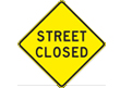Street Closed sign