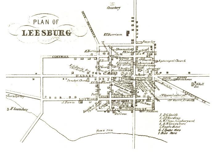 Leesburg Va Map Antebellum Leesburg (1814 1860) | Leesburg, VA Leesburg Va Map