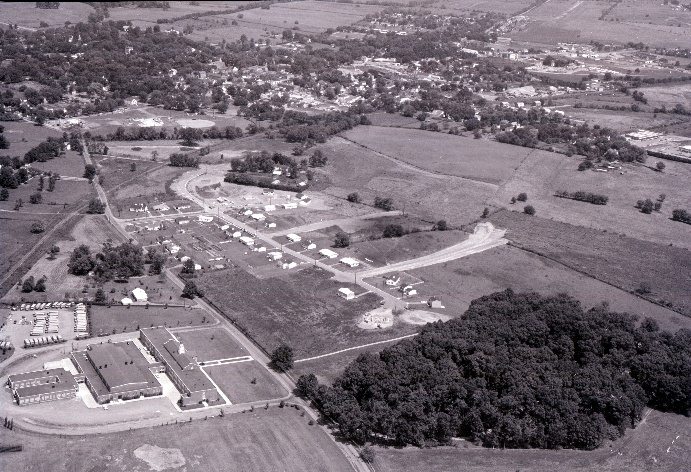 1960 aerial photo of Leesburg