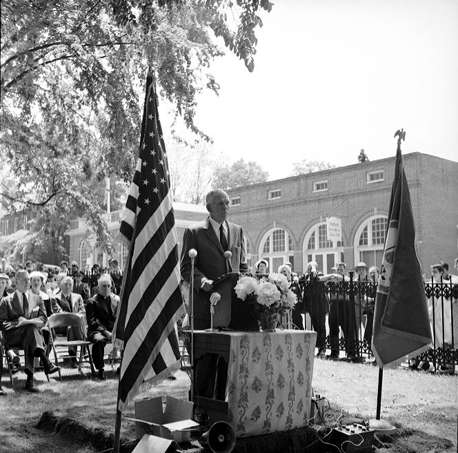 George Marshall at WWII monument dedication