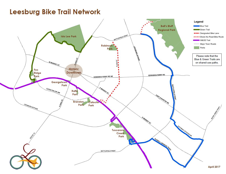 bike trail network | leesburg, va