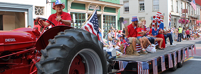 July 4 Tractor
