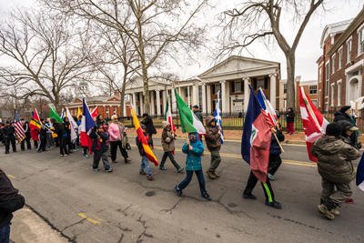 2015 MLK March in downtown Leesburg (credit: Bob Pierce)