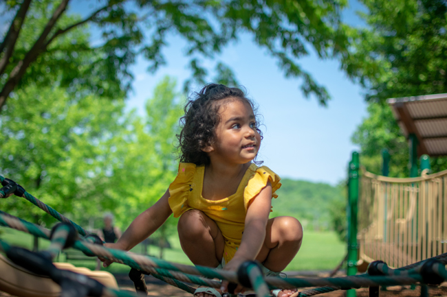Photo of child playing at Ida Lee Park