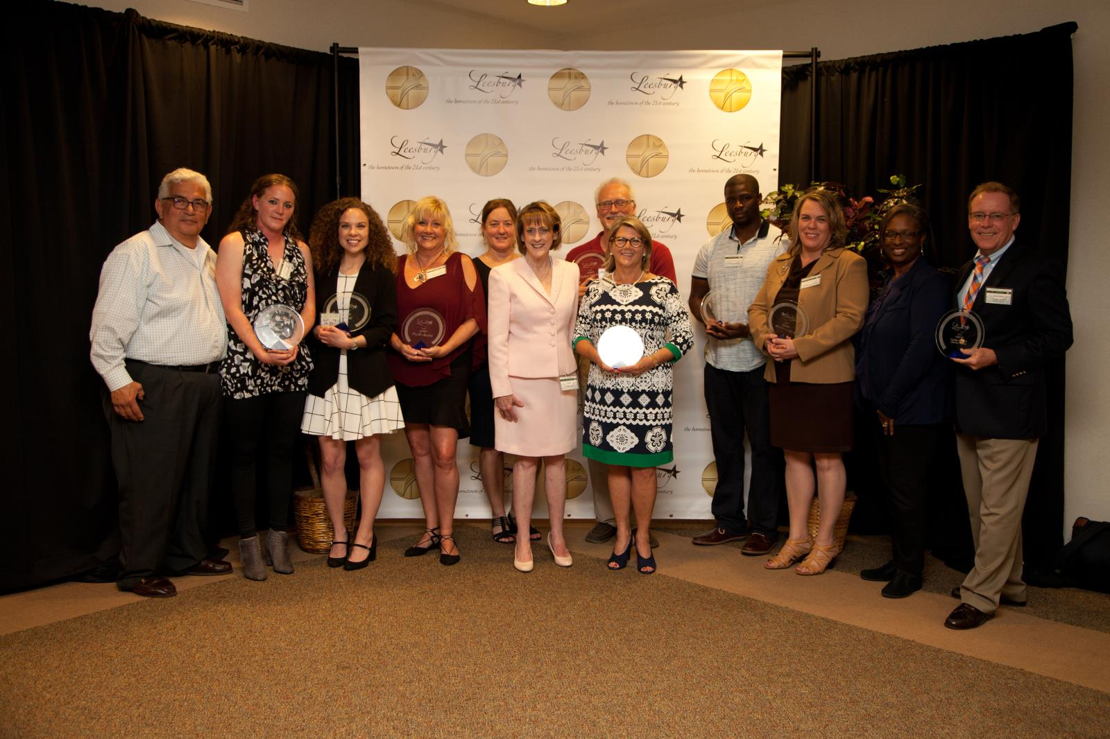 Award winners at the Leesburg Business Awards.