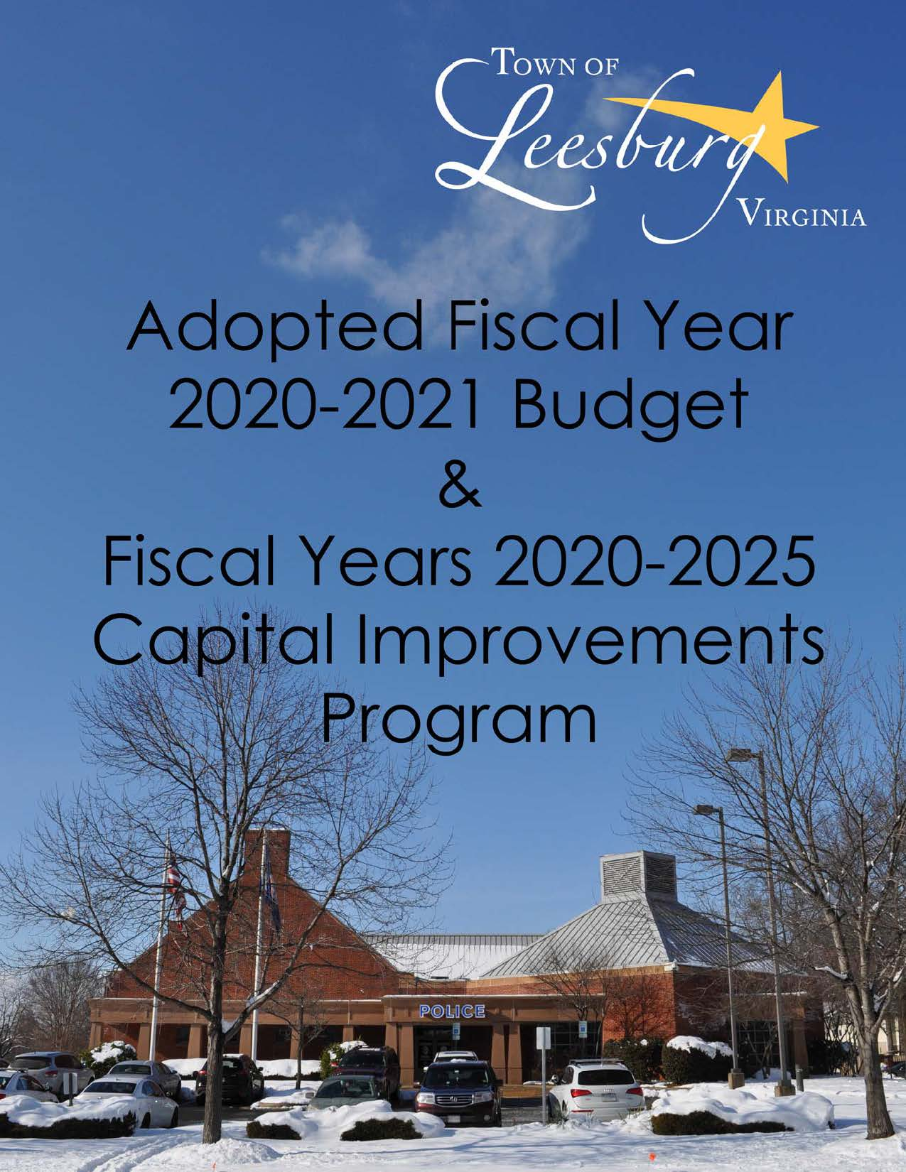FY 2020 Adopted Cover