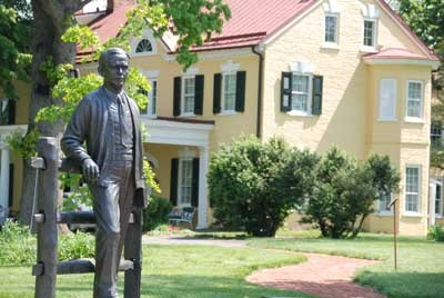 George C. Marshall statue in front of The Marshall House