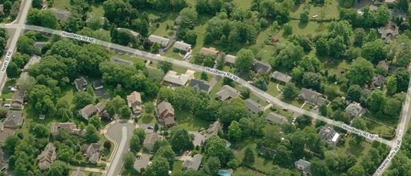 Woodberry Road Aerial