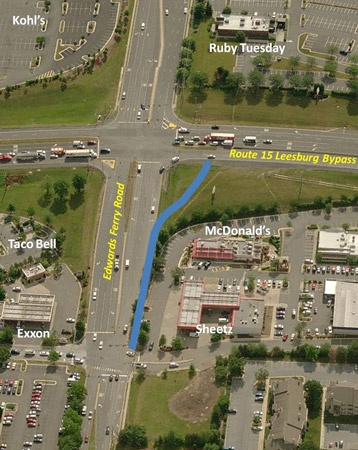 Edwards Ferry Right Turn Lane Aerial