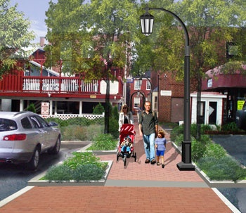 Downtown Improvements Walkways Rendering