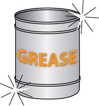 Grease can -color