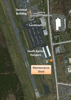 Airport Maintenance Shed Aerial