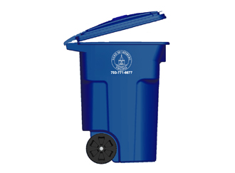 blue recycling toter
