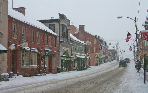 North King Street in the snow