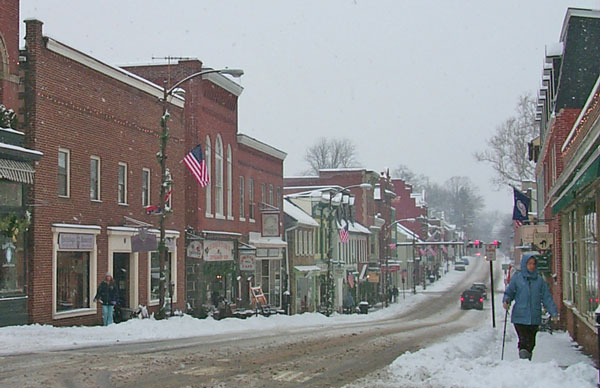 South King Street in the snow