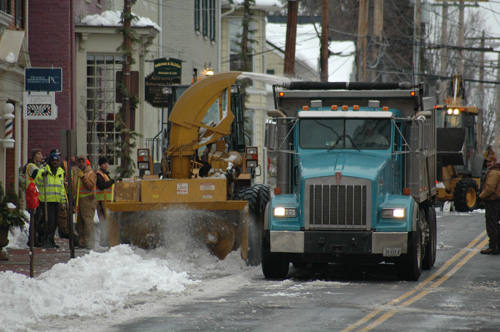Downtown snow removal operations